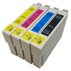 1 Multipack - 4 Compatible Ink Cartridges To Replace Epson T0801-4 (76ml)