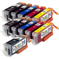 Compatible Canon PGI-550 / CLI-551 Ink Cartridge Twin Pack + 1 FREE Black - 11 Inks (162ml)