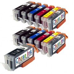 Compatible Canon PGI-550 / CLI-5510 Ink Cartridge Twin Pack (inc. Grey) + 1 FREE Black - 13 Inks (186ml)