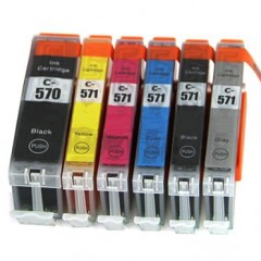 570xl 571xl compatible multipack - 5 high capacity ink cartridges