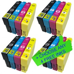 Compatible Epson 29XL 12 Pack + Choose 4 FREE High Yield Ink Cartridges