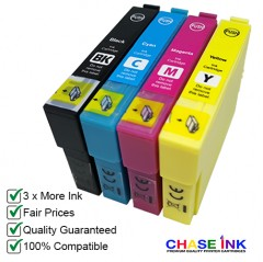 Choose ANY 4 - Compatible 29 XL High-Capacity Strawberry Ink Cartridges for Epson Printers