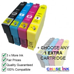 Compatible Epson 603XL Ink Cartridges - 1 Multipack (BCMY) + Choose 1 EXTRA Cartridge