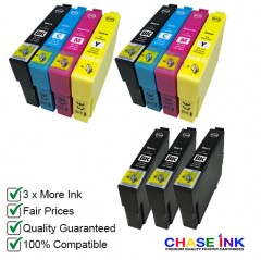 Compatible Epson 603XL Ink Cartridges - 2 Multipacks (BCMY) + 3 EXTRA Black