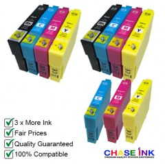 Compatible Epson 603XL Ink Cartridges - 2 Multipacks (BCMY) + EXTRA Cyan, Magenta & Yellow
