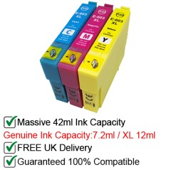 3 compatible ink cartridges to replace epson 603 603xl