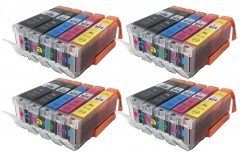 PGI-570XL / CLI-571XL - 3 Multipacks + 1 FREE Pack - 20 Compatible Canon Ink Cartridges