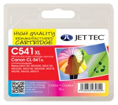 remanufactured canon pg-540xl/cl-541xl ink cartridge combo pack