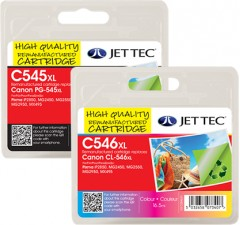 Remanufactured Canon PG-545XL & CL-546XL Ink Cartridge Multipack