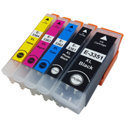 1 Multipack - 5 Compatible Ink Cartridges To Replace Epson 33 33XL (70ml)