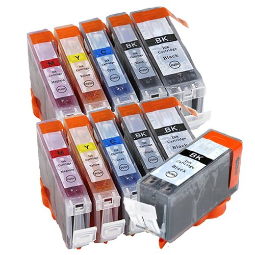 Compatible Canon PGI-520 / CLI-521 Ink Cartridge Twin Pack + EXTRA Black - 11 Inks