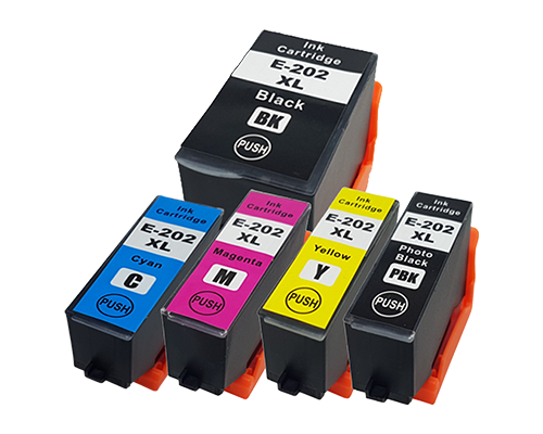 1 Multipack - 5 Compatible Ink Cartridges To Replace Epson 202 202XL (54ml)