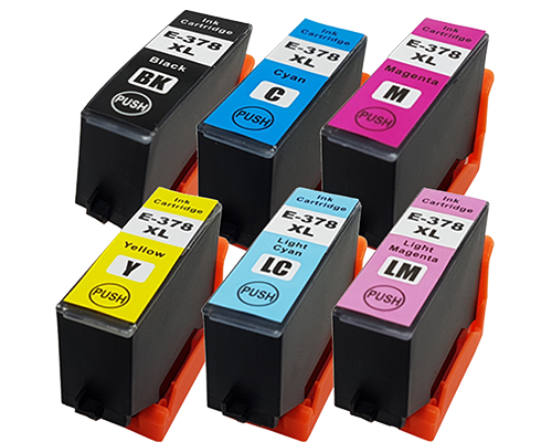 1 Multipack - 6 Compatible Ink Cartridges To Replace Epson 378 378XL (69ml)
