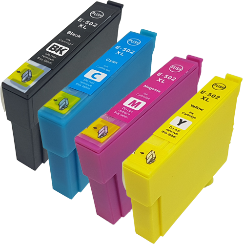 1 Multipack - 4 Compatible Ink Cartridges To Replace Epson 502 502XL (60ml)