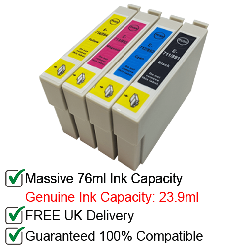 Compatible Epson T0711-4 T0715 - 1 Multipack Ink Cartridges